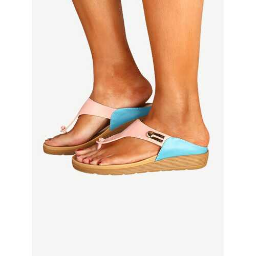 Casual Beach Splicing Flip Flops Sandals