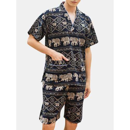 V Neck Short Sleeve Sleepwear