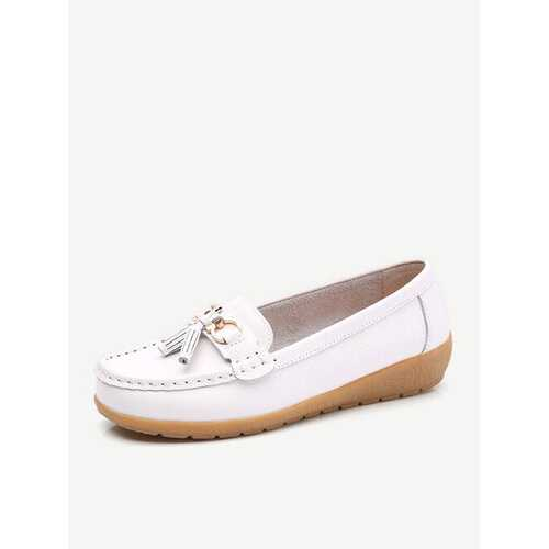 Big Size Colorful Casual Leather Flats