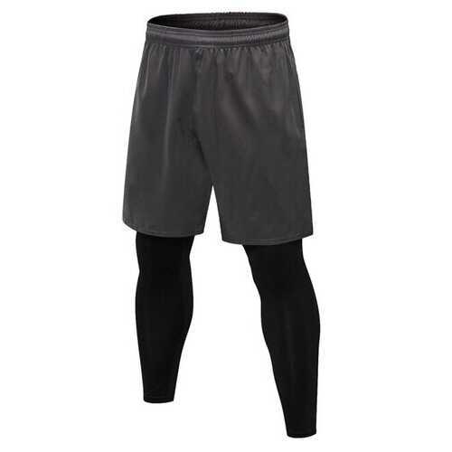 2pcs Men Fitness Bottom Set