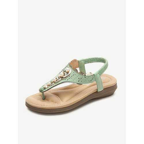 Bohemia Soft Pearl Flip Flops Sandals