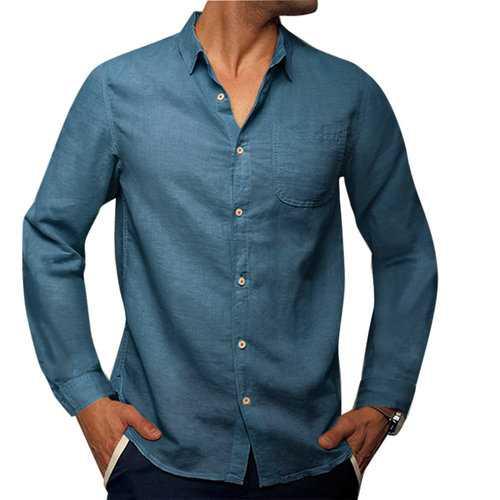 Comfy Solid Color Casual Shirt