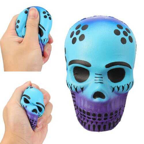 Galaxy Halloween Skull Squishy