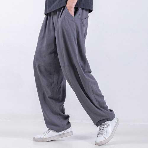 Baggy Style Cotton Drawstring Harem Pants