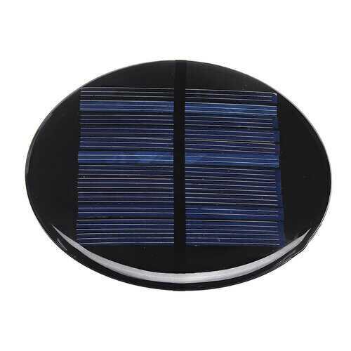 Mini Solar Panel Module 6V 2W 0.35A 80MM Round Poly Silicon