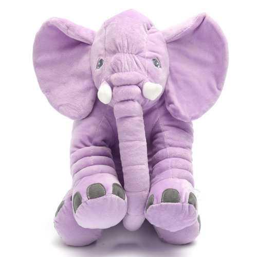 Little Baby Long Nose Lumbar Elephant Pillow