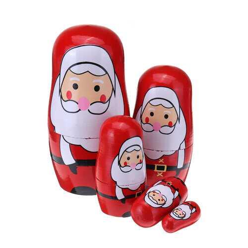 5PCS Christmas Nesting Doll