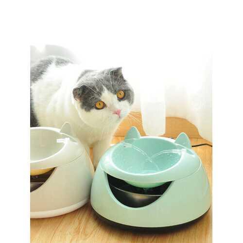 2 Colors Pet Dog Cat Automatic Water Bowl