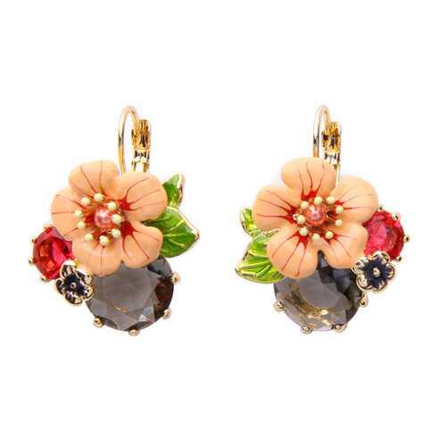 Trendy Flower Ear Drop Earrings