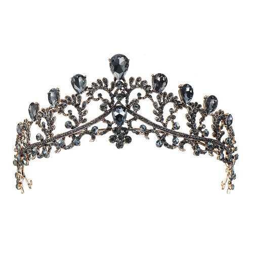 Vintage Black Crown Hairband