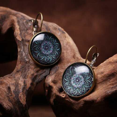 Bohemian Flower Drop Earrings