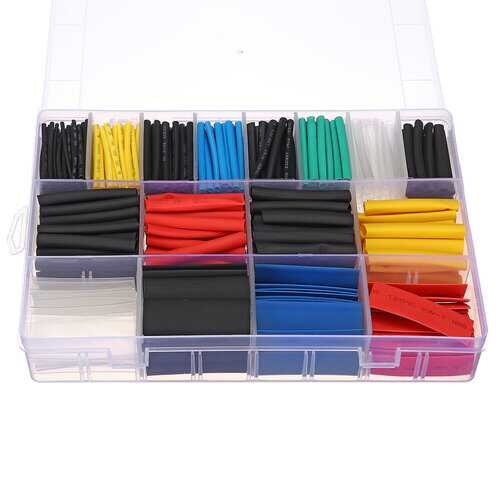 580Pcs Heat Shrink Insulation Tube 2:1 Shrinkable Wire Cable