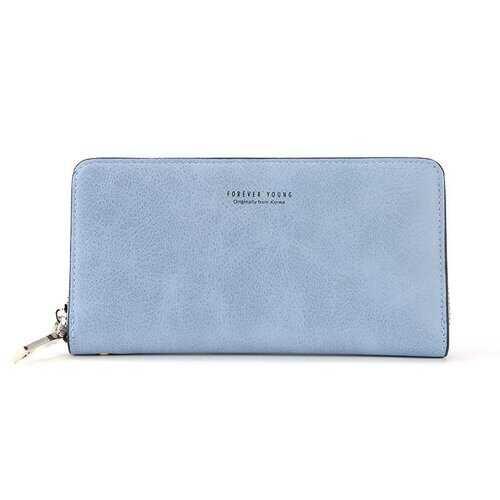 Women Stylish PU Leather Multi-slots Long Wallet