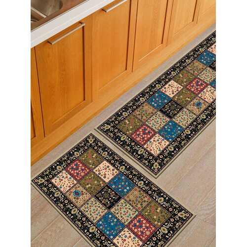 2Pcs/Set Kitchen Floor Carpet