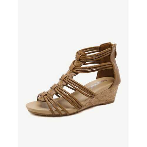 Rome Soft Wedge Heel Pumps Sandals