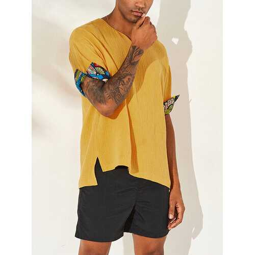 Mens Vintage Half Sleeve Loose Casual T-Shirts