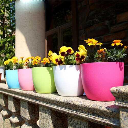 Automatic Irrigation Plastic Flower Pot