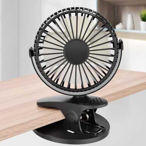 360° Rotation Mini Fan Battery Operated/USB Clip Fan