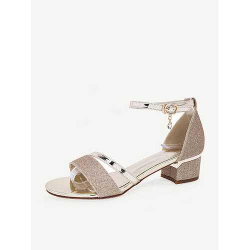 Women Large Size Square Heels Shoes  Sandals Wedding Shoes