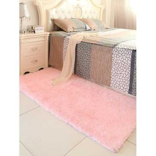 90x160cm Fashion Mat Bedroom Floor Mat Fluffy Blanket Nonslip Home Cushion Rug