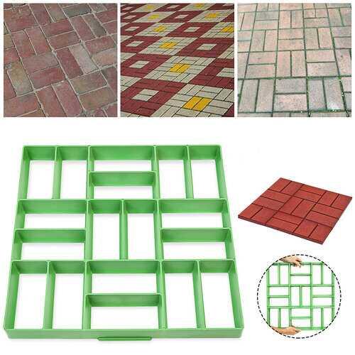<US Instock>DIY Path Maker Paving Mould Pavement Mold Brick Cement Concrete Model For Street Garden Yard Road Floor