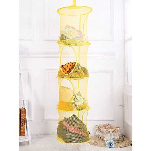 Cylindrical Foldable Hanging Storage Basket