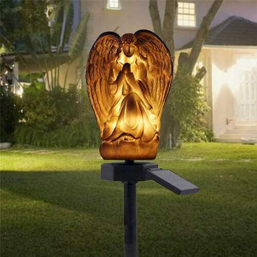 Solar LED Ground Buried Light Angel Ornament Garden