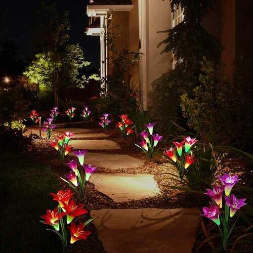 Multicolor Changing Waterproof Outdoor Garden Lamps
