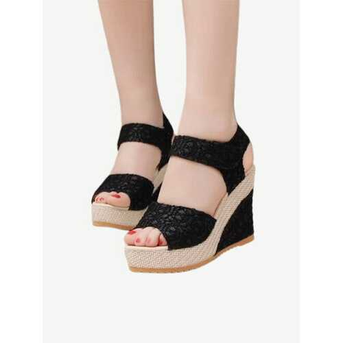 18 Fashion Professional Women's Sandals Fish Mouth With Thick Lace Cake With New Women's Shoes