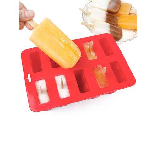 10 Freezer Ice Lolly Maker Tray Cream Yogurt Mold Maker Mould