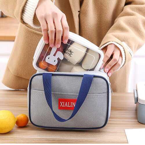 Insulated Cooler Zipper Lunch Bag