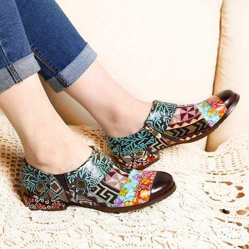 Geometric Pattern Stitching Shoes