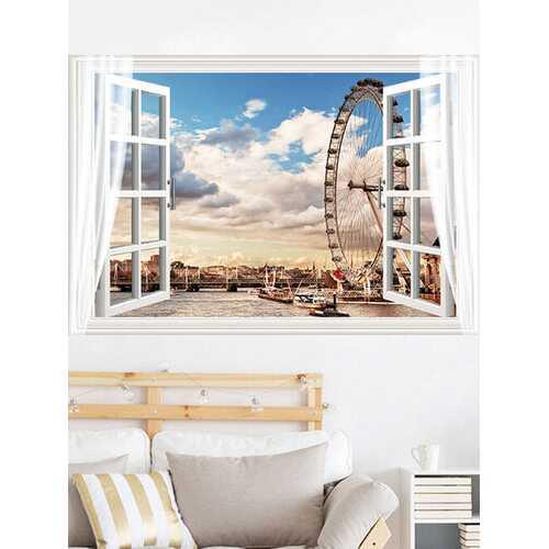 Ferris Wheel Landscape Wall Sticker