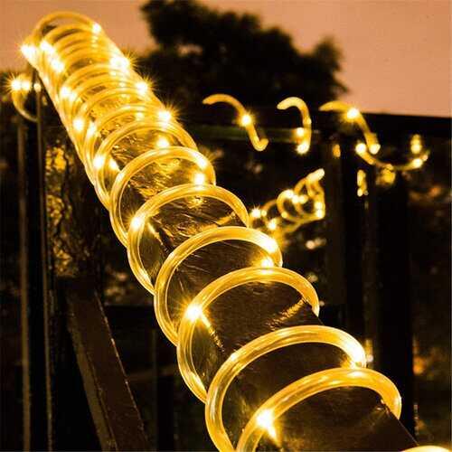 Outdoor LED Solar Strip Light Waterproof Copper Wire String