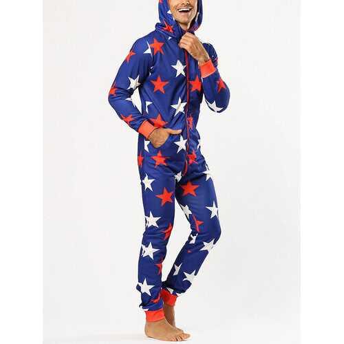Funny Stars Print Jumpsuit