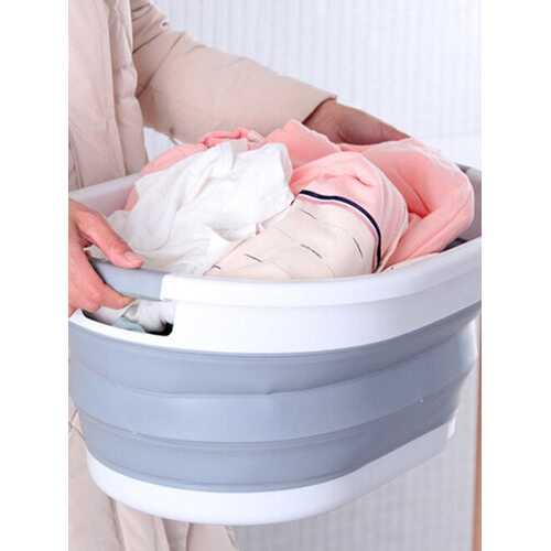 Foldable Laundry Basket Household Clothes Storage Basket