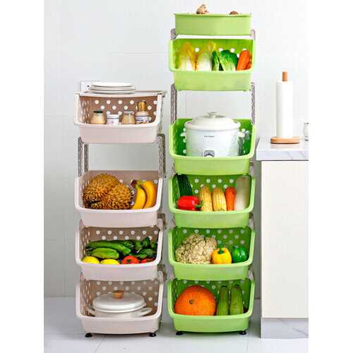 4 Layers-Household Shelves Multi-Layer Storage Baskets