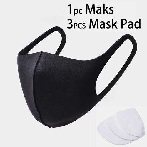 3Pcs Disposable Mask Inner Pad PM2.5 Filter Cotton Pad