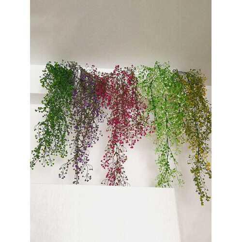 Green Plants Flower Vine Decorati Plastic Flower Plant