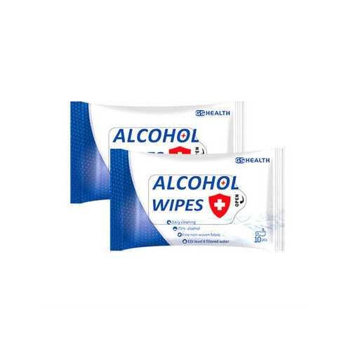 10PCS Portable Alcohol Sterilization Wipes