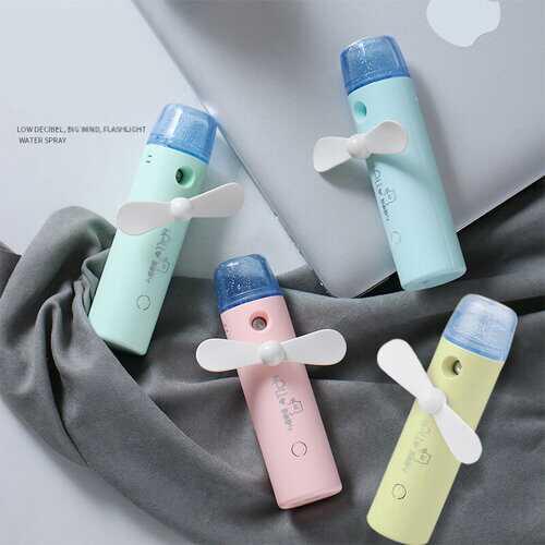 Mini Spray Fan USB Rechargeable Handheld Fan Portable