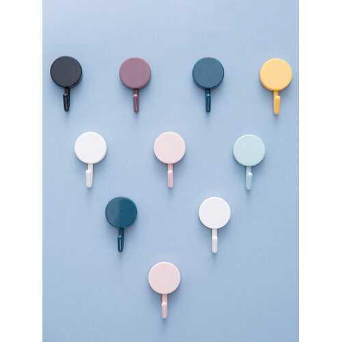 10 PCS Creative Bathroom Strong Nail-Free Hook Nordic Style Wall Seamless Paste Coat Hook