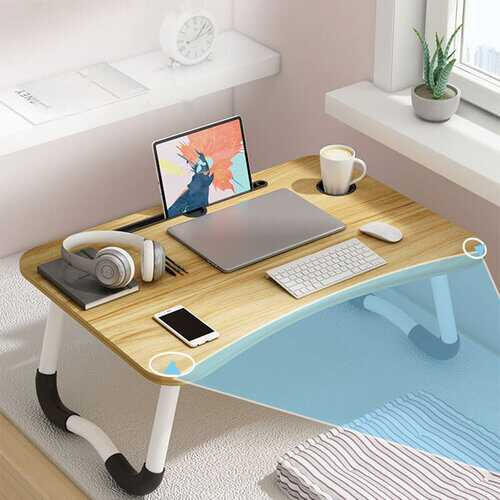 Adjustable Standing Office Desk Bed Small Table Folding Table Lazy Simple Desk Bedroom Laptop Table Desk Seat