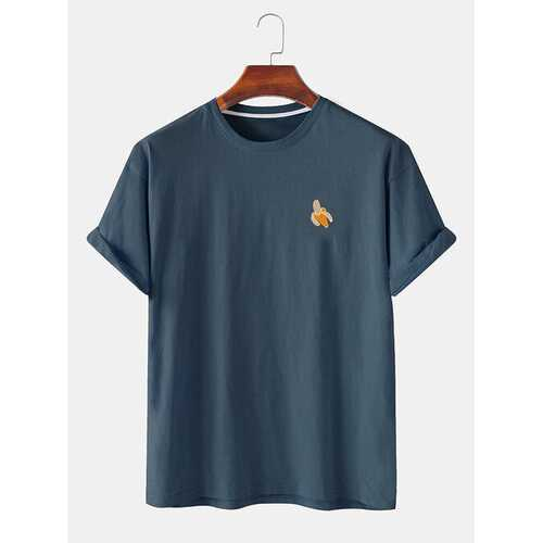 Simple Six Color Chest Graphic T-shirts