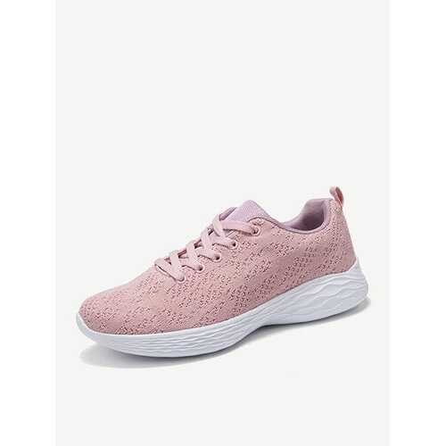 Air Mesh Lace Up Running Casual Shoes