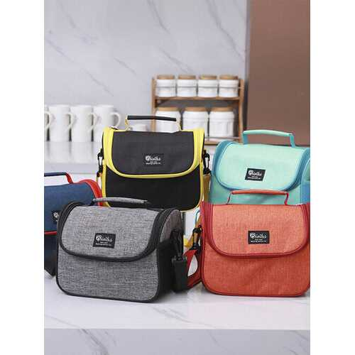High-Quality Large-Capacity Lunch Bag Tote Hot Cold Insulated Thermal Cooler Work School Travel Picnic