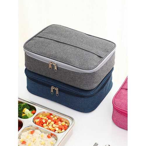 Insulated Lunch Box Bag Portable Rectangular Aluminum Lunch Box Bag