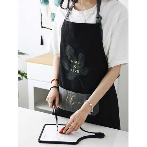Home Fashion Kitchen Hanging Neck Apron High-end Creative Housework Waterproof And Anti-Pollution Thickened Waistband
