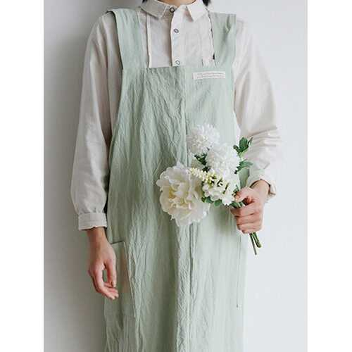 Increase Literary Fresh Japanese And Korean Apron Home Service Overalls Flower Shop Coffee Shop Work Clothes