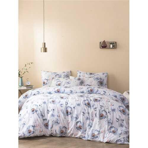 2/3Pcs Quilt Home Textile Brushed Printing Kit Duvet Cover Bedding